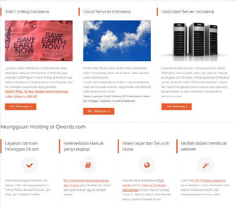 Banyak keunggula yang dimiliki QWORDS.COM.