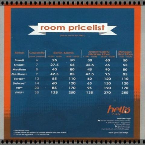 Price list yang tetap ekonomis dan terjangkau.