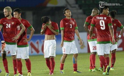 Timnas Indonesia di gelaran Sea Games Myanmar. (Foto koleksi Prasetyo Utomo/ANTARA)