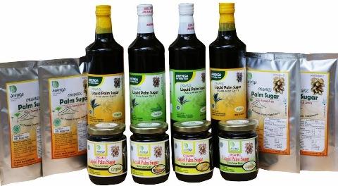 Varian produk gulan aren Arenga Sugar. (Courtesy of gulaarenorganik dot com)