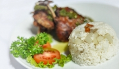 Nasi Campur Bebebk. (Courtesy of The Bay Bali)