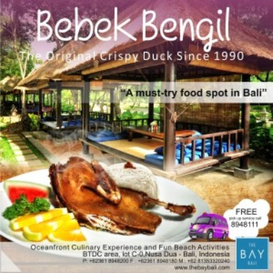 Promo menu Bebek Bengil. (Courtesy of The Bay Bali)