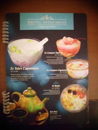 Silahkan memilih menu-menu andalan di sini.