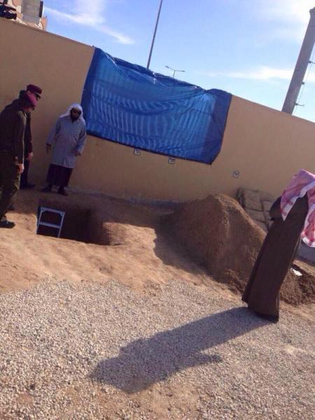 Lubang yg disiapkan sebagai liang lahat Raja Abdullah. (Dok Al-Madinah Newspaper)