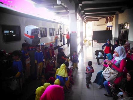 Maskot Mister Loko punya PT. KAI Daop Bandung. (dok pribadi)