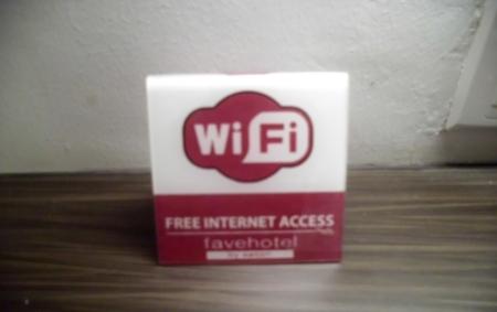 Fasilitas free-wifi di seluruh area hotel. (dok pribadi)
