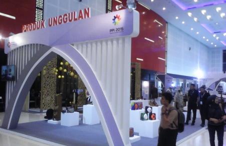 Salah satu sudut booth display produk unggulan. (dok pribadi)